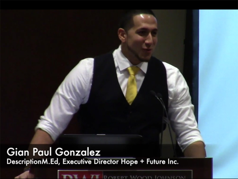 Gian Paul Gonzalez, Executive Director Hope + Future Inc.